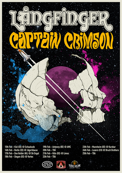 Långfinger + Captain Crimson tour February/March